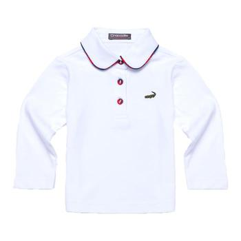 『小鱷魚童裝』白色時尚POLO衫(12號~14號)336150