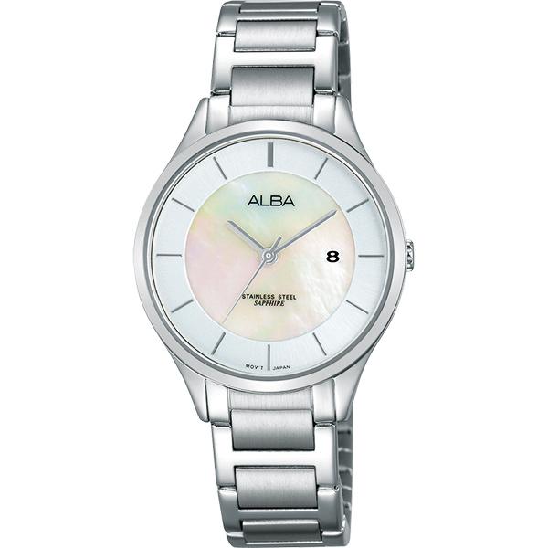 ALBA Fashion Lady 俏甜心女錶~珍珠貝30mm VJ22~X237S^(A