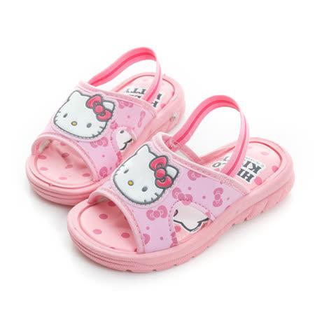 2014款(13-16cm) Hello Kitty 輕量舒適減壓嗶嗶拖鞋(14.5-16無後拉帶) 814676-粉