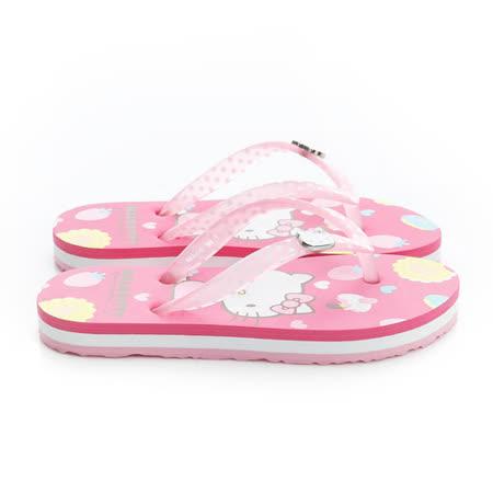 2015款(17-23cm) Hello Kitty 甜點風舒適減壓底夾腳海灘鞋 815761-桃