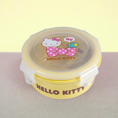 HelloKitty植物纖維餐碗(黃)