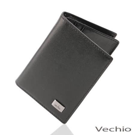VECHIO 素面軟皮名片夾(黑色)VE029W08BK