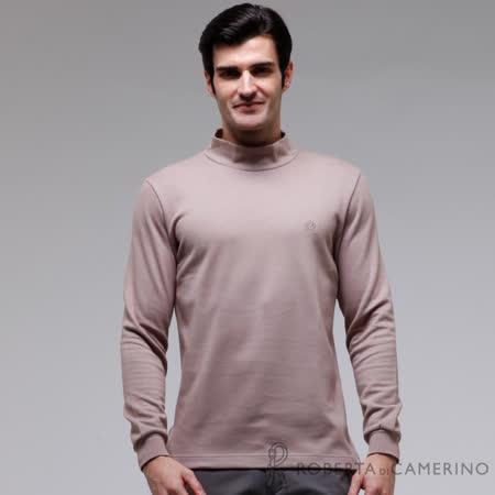ROBERTA諾貝達 秋冬必備基本款 超柔軟  長袖POLO棉衫 棕褐