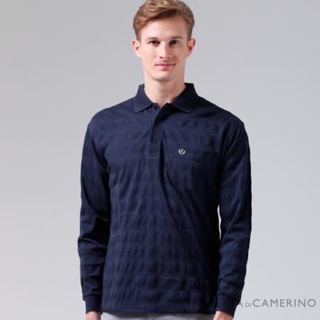 ROBERTA諾貝達 台灣製 經典呈現 純棉長袖POLO棉衫 深藍