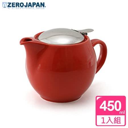 【ZERO JAPAN】典藏陶瓷不銹鋼蓋壺(蕃茄紅)450cc