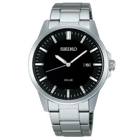 【SEIKO 精工】SPIRIT 極簡約太陽能不鏽鋼腕錶(39mm/V147-0AV0D)