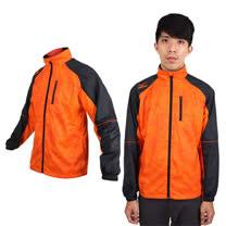 (男) MIZUNO 風衣外套 - 防風 保暖 美津濃 立領外套 橘黑