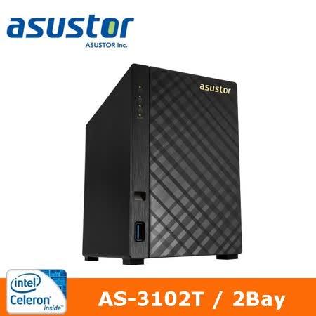 ASUSTOR 華芸 AS-3102T 2Bay 網路儲存伺服器