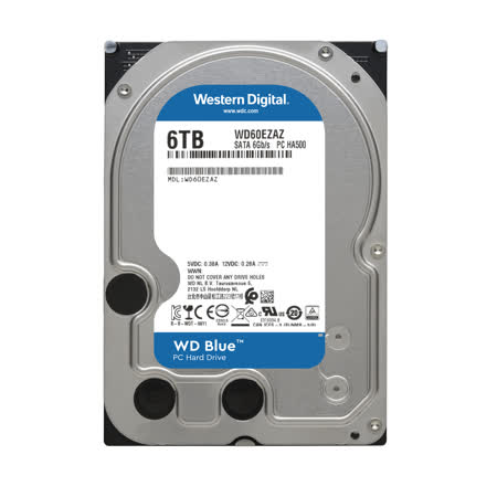 WD 威騰 WD60EZRZ 藍標 6TB 3.5吋SATA硬碟/3y