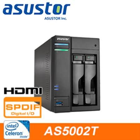 ASUSTOR華芸 AS-5002T 2Bay網路儲存伺服器