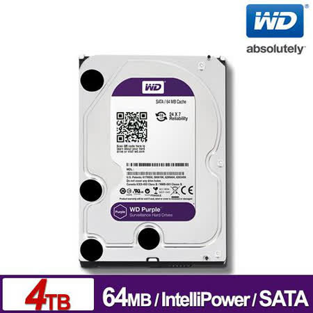 WD 紫標 4TB 3.5吋 SATAⅢ監控系統碟(WD40PURX)