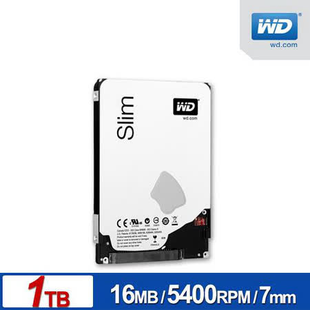 WD 藍標 1TB 2.5吋SATAIII 7mm 硬碟(WD10SPCX)