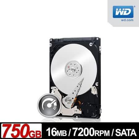 WD 黑標 750GB 2.5吋SATAII硬碟(WD7500BPKX)
