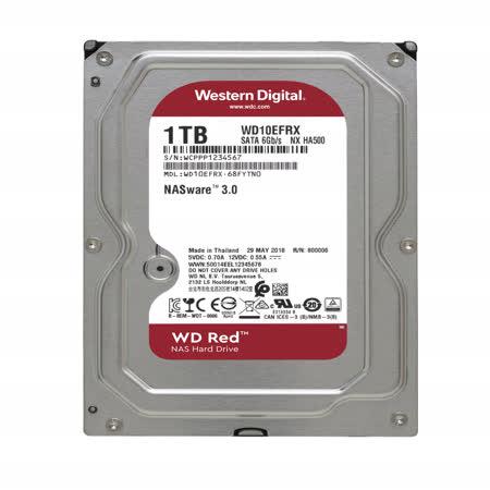 WD 紅標 1TB 3.5吋NAS專用硬碟(WD10EFRX)