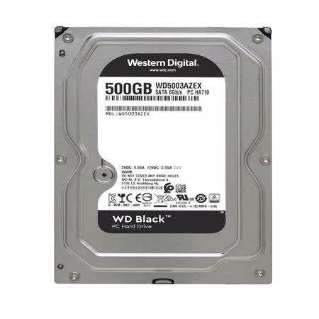 WD 黑標 500GB 3.5吋SATA硬碟(WD5003AZEX)