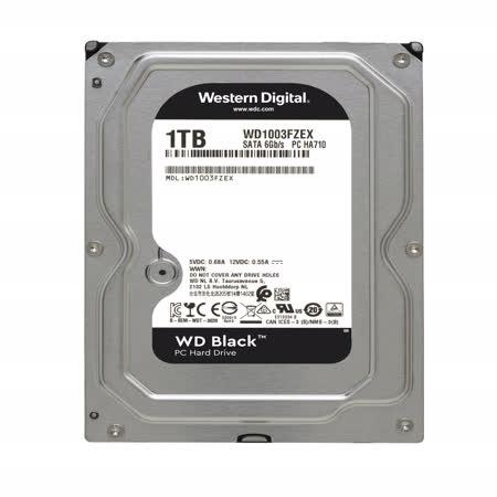WD 黑標 1TB 3.5吋SATA硬碟(WD1003FZEX)