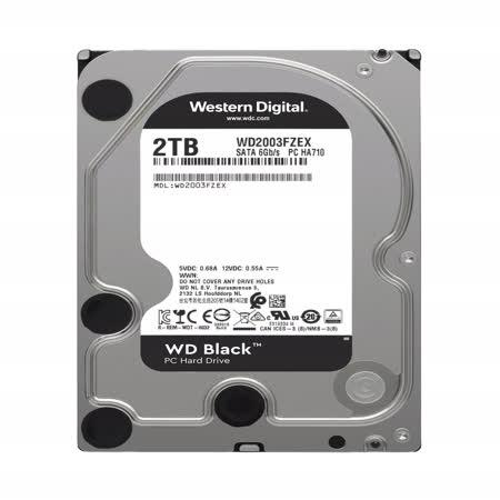 WD 黑標 2TB 3.5吋SATA硬碟(WD2003FZEX)
