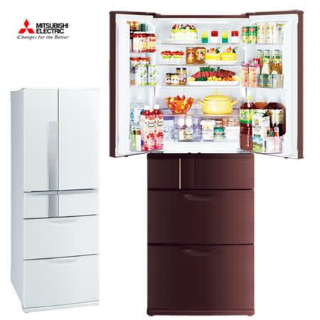 夜間下殺【Mitsubishi三菱】525L日本原裝變頻六門電冰箱MR-JX53X