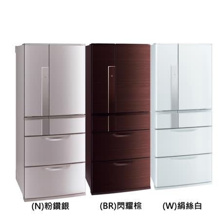 【Mitsubishi三菱】635L日本原裝變頻六門電冰箱MR-JX64W