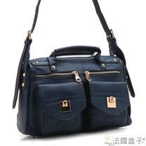 【法國盒子】愛麗絲口袋三用包(寶藍)H616