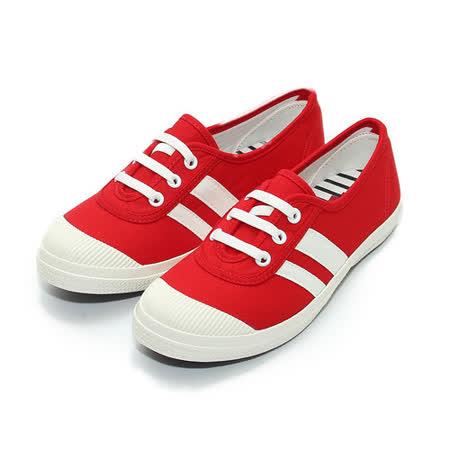(中大童) TE TE 綁帶帆布鞋 紅 鞋全家福