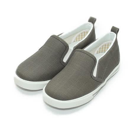 (中小童) GIOVANNI VALENTINO 套式休閒鞋 灰 鞋全家福