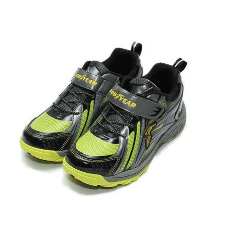 (中大童) GOODYEAR 競速運動鞋 綠 鞋全家福