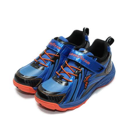 (中大童) GOODYEAR 競速運動鞋 藍 鞋全家福