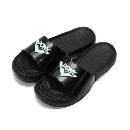 (男) PONY 限定版套式拖鞋 黑白 鞋全家福