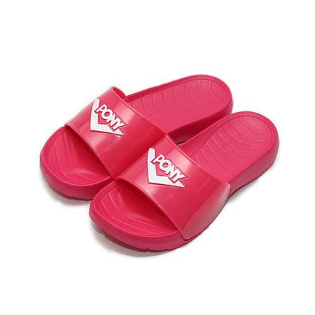 (女) PONY 限定版套式拖鞋 桃白 鞋全家福