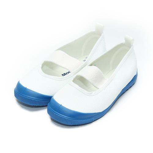 ^(童^) MOONSTAR 素面室內鞋 藍白 鞋全家福