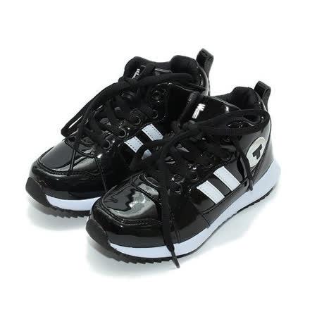 (童) TOPU ONE 韓版潮流運動鞋 黑白 鞋全家福