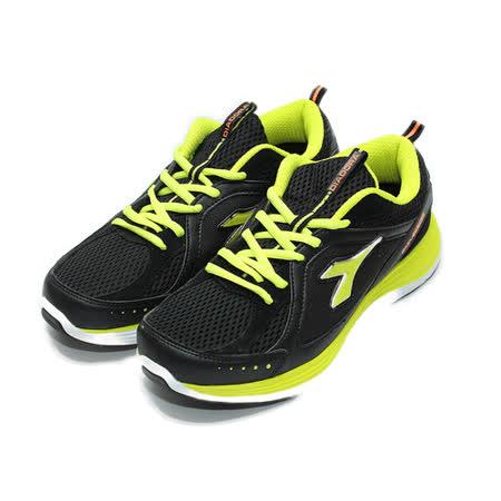 (男) DIADORA 2650輕量跑鞋 黑綠 鞋全家福