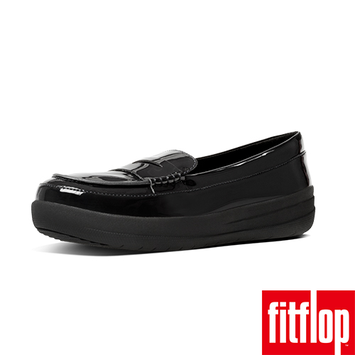 FitFlop™-(女款)F-SPORTY™ PENNY LOAFERS PATENT-黑色