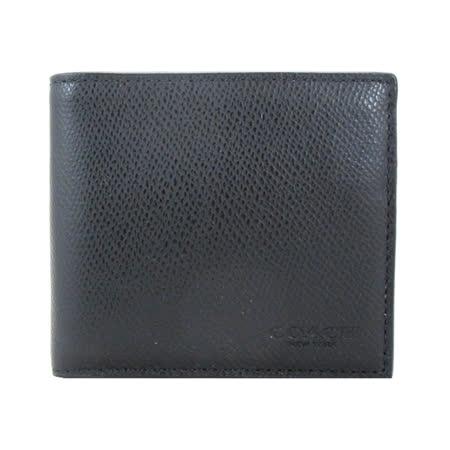 COACH  防刮材質零錢袋短夾(黑)