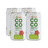 椰活/椰活100%純椰子水330ml*4瓶