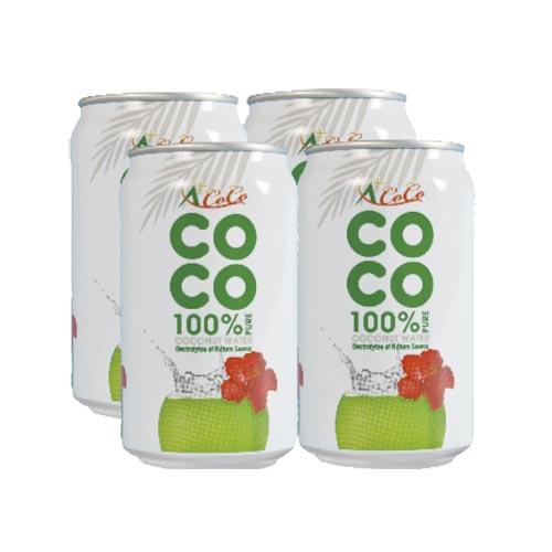 椰活椰活100^%純椰子水330ml^~4瓶