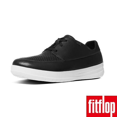 FitFlop™-(女款)SPORTY-POP SOFTY SNEAKERS LEATHER-黑色
