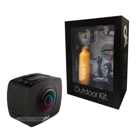 GIGABYTE JOLT DUO 360度全景雙眼運動黑炫機+戶外配件組