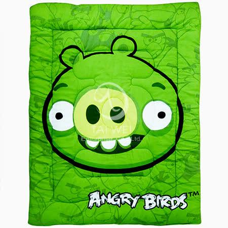 ANGRY BIRDS憤怒鳥【射擊遊戲系列-綠豬】 暖暖厚毯被