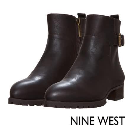 【勸敗】gohappyNINE WEST--英倫風範飾扣側拉鍊方頭短靴--帥氣咖效果好嗎板橋 遠 百 餐廳