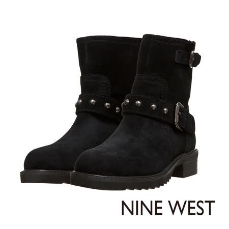 【部落客推薦】gohappy線上購物NINE WEST--中性型格鉚釘低跟軍靴--粗曠黑效果寶 慶 路 遠東