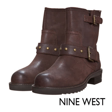 【開箱心得分享】gohappy 線上快樂購NINE WEST--中性型格鉚釘低跟軍靴--帥氣咖效果好嗎電 風扇 特價