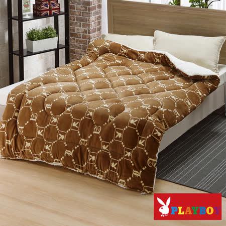 【PLAYBOY】古典格紋 特級羊羔絨加厚舖棉保暖毯被