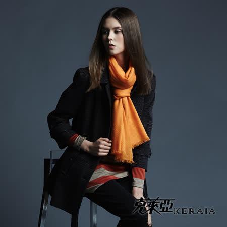 克萊亞KERAIA 小格紋俐落長版大衣外套