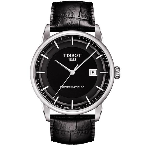 TISSOT 天梭 LUXURY 動力儲存80機械腕錶~黑41mm T0864071605