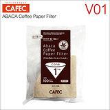 CAFEC AC1-100B V01麻纖維咖啡濾紙(100枚)*2入 HG5002