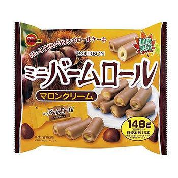 北日本迷你栗子風味奶油捲147.2g
