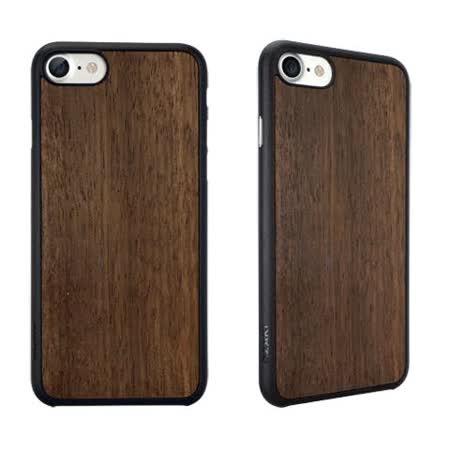 Ozaki O!coat 0.3 + Wood iPhone 7 超薄木紋保護殼 - 黑檀木