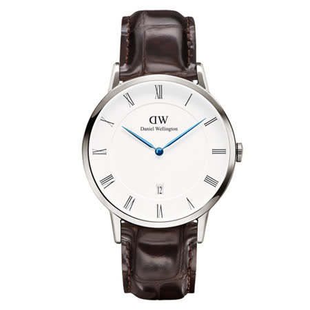 DW Daniel Wellington Dapper優質時尚皮革腕錶-銀框/38mm(1122DW)